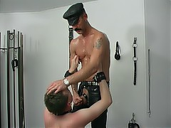 Mature master is balls deep inside a gay slave