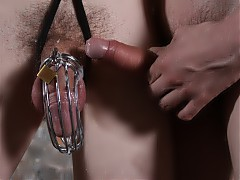 Restrained by chains and with his cock in a device that looks like it came straight from a Saw movie, this video is going to be quite a punishing task for Aaron Aurora. Don't miss him get his ass pounded by Ashton Bradley while he's caught in this steel trap.