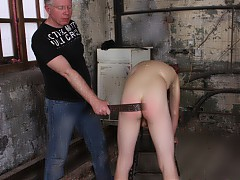 Sebastian Kane knows how to command his boys no restraints, no restrictions, just pure control over Leo Foxx.  Leo is given various positions to take whilst Sebastian spanks the boy with a multitude of implements. Leo is made to do everything from a simple bend at the waist, to a complete handstand - being punished at every step. Finally Leo is made to sit on Sebastian and support himself using just his arms whilst Sebastian brings him to climax. Leo is then made to endure a cum facial from both Sebastian AND Ashton Bradley,